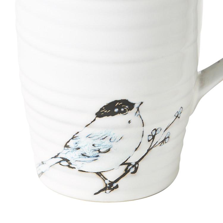Salisbury & Co Bird Mug 420ml Blue
