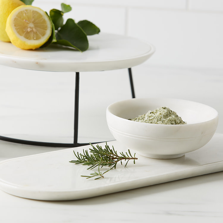 Salisbury & Co Carra Marble Shallow Bowl 13.5x5cm White