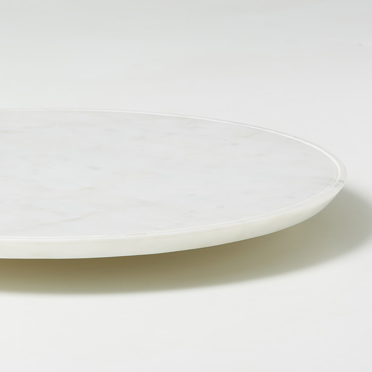 Salisbury & Co Carra Marble Lazy Susan 40x4.5cm White