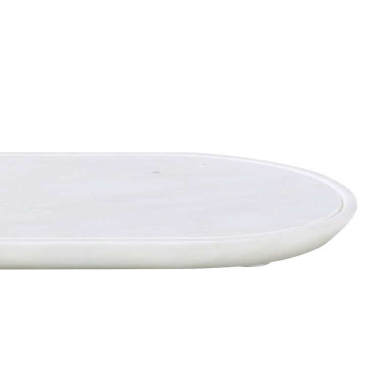 Salisbury & Co Carra Marble Oblong Serving Board 38x15cm White