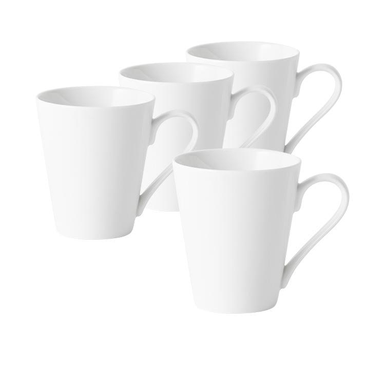 Salisbury & Co Classic 4pc Conical Mug Set 320ml White