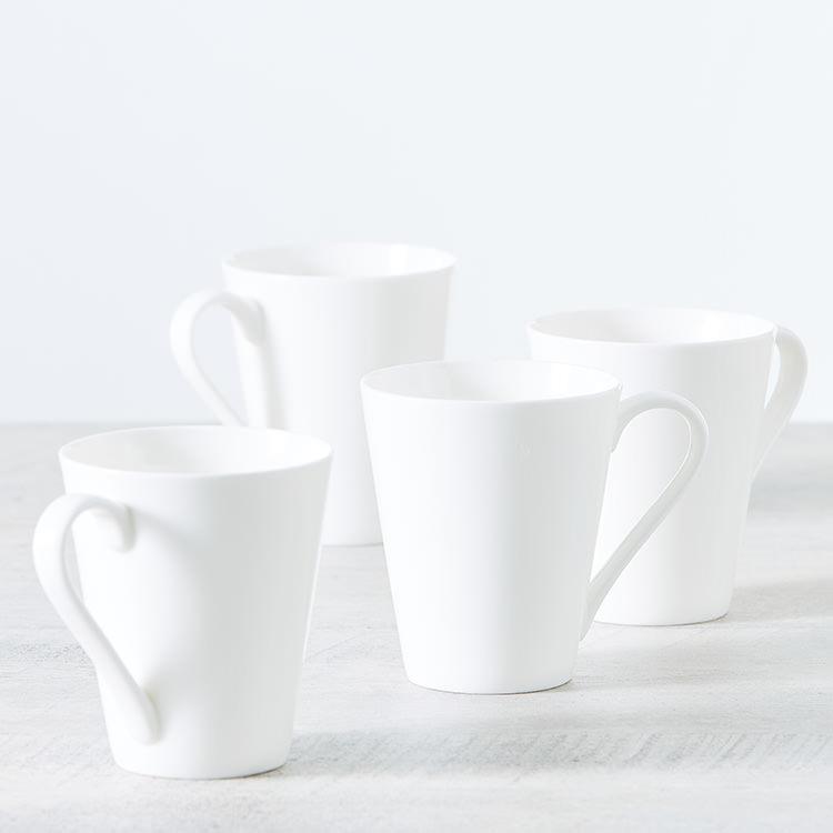 Salisbury & Co Classic 4pc Conical Mug Set 320ml White image #3
