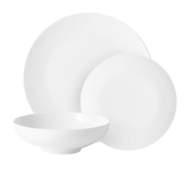 Salisbury & Co Classic Pure 12pc Coupe Dinner Set White