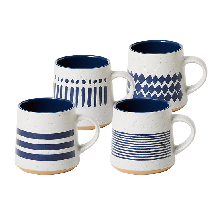 Salisbury & Co Corfu Mug 420ml Set of 4 Blue