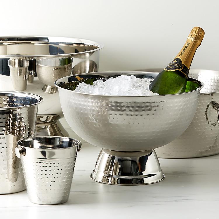 Salisbury & Co Hemingway Hammered Champagne Bowl 35x22.5cm