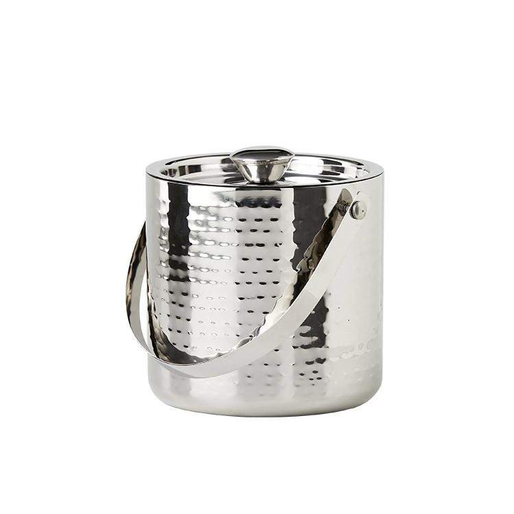 Salisbury & Co Hemingway Hammered Ice Bucket with Lid 15.5x16.5cm