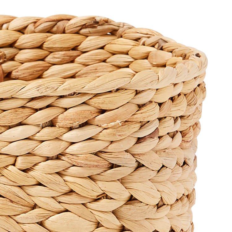 Salisbury & Co Province Carry Basket w/ Suede Handles Large