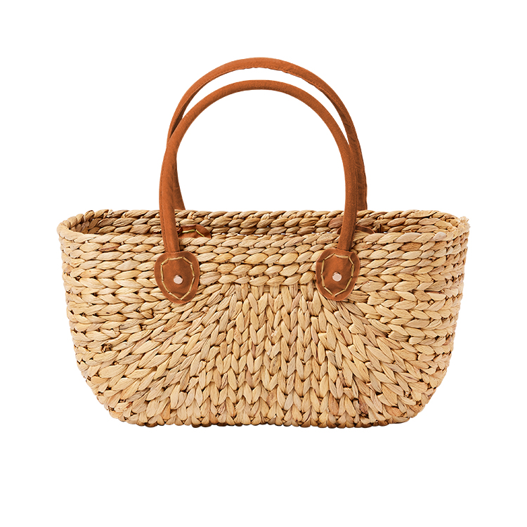 Salisbury & Co Province Carry Basket w/ Suede Handles Medium