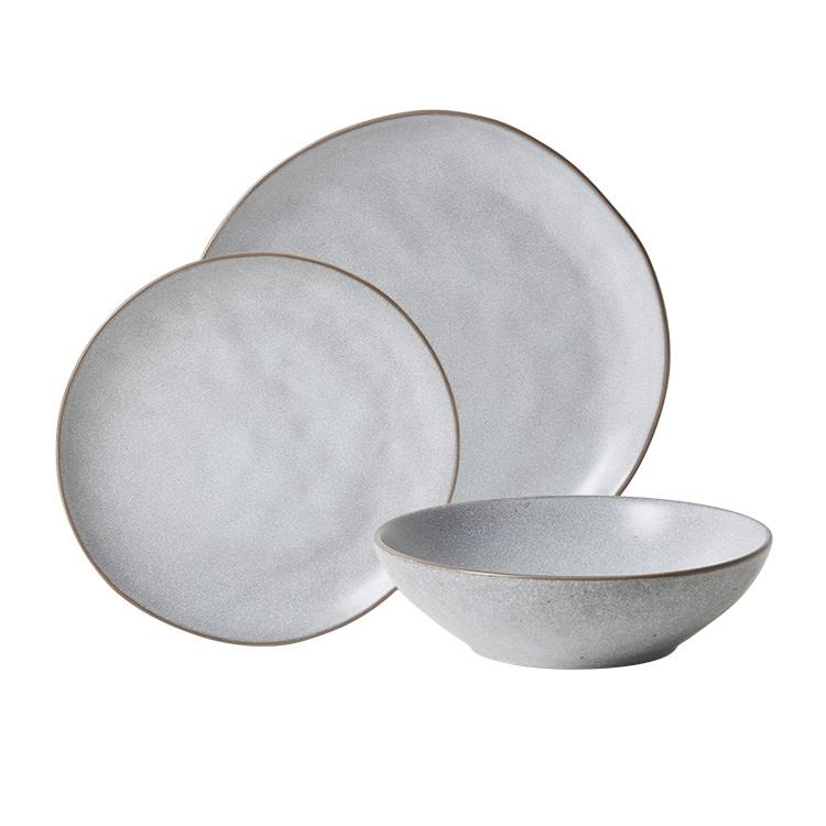 Salisbury & Co Siena Dinner Set 12pc Light Grey