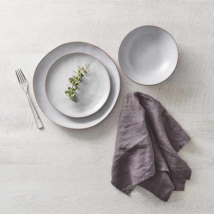 Salisbury & Co Siena Dinner Set 12pc Light Grey image #4