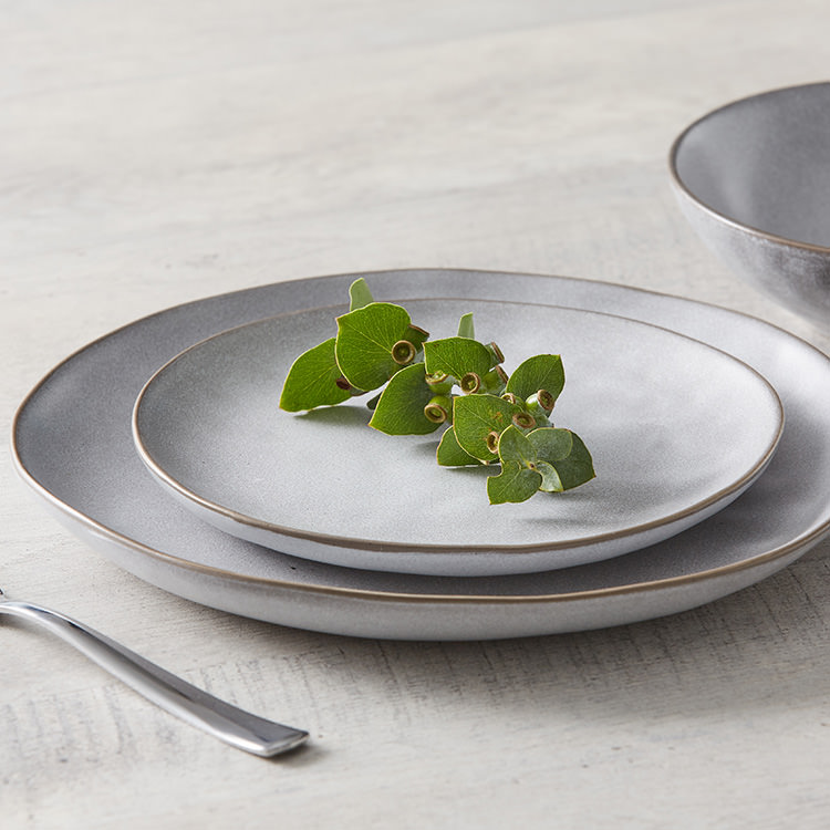 Salisbury & Co Siena Dinner Set 12pc Light Grey image #6
