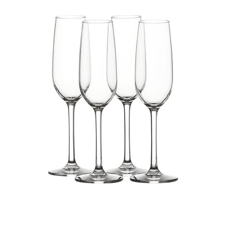 Salisbury & Co Unbreakable 4pc Champagne Flute Set 200ml