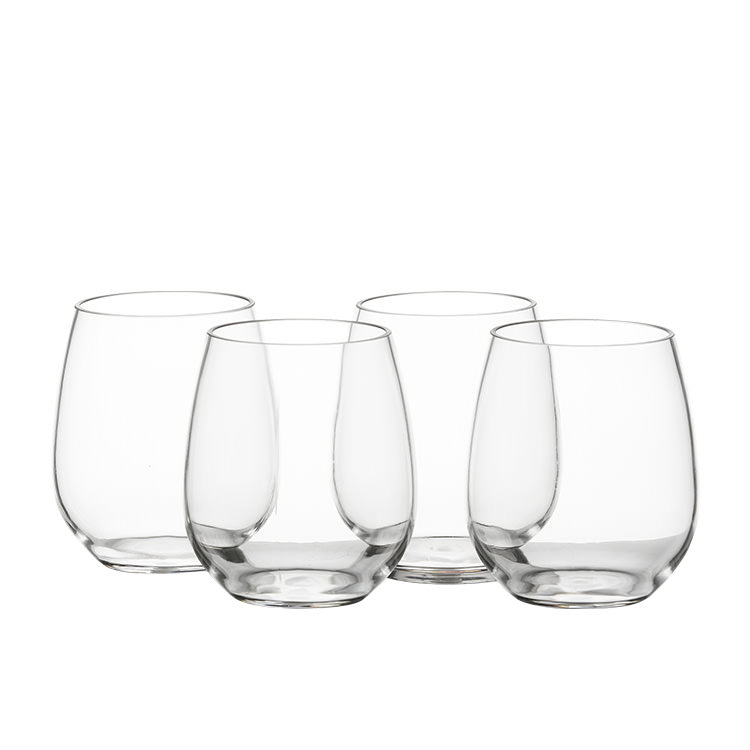 Salisbury & Co Unbreakable Stemless Wine Glass 500ml Set of 4