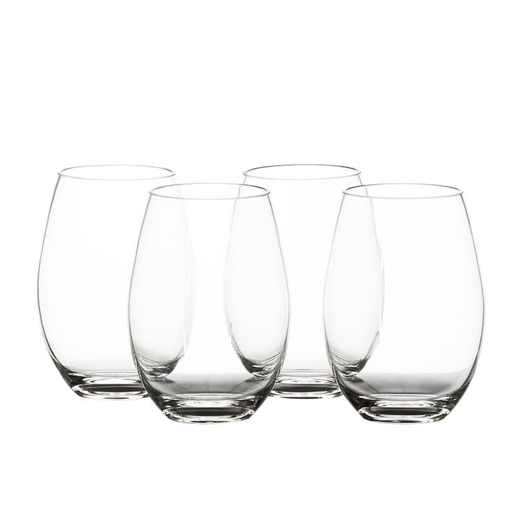 Salisbury & Co Unbreakable 4pc Stemless Wine Glass Set 590ml