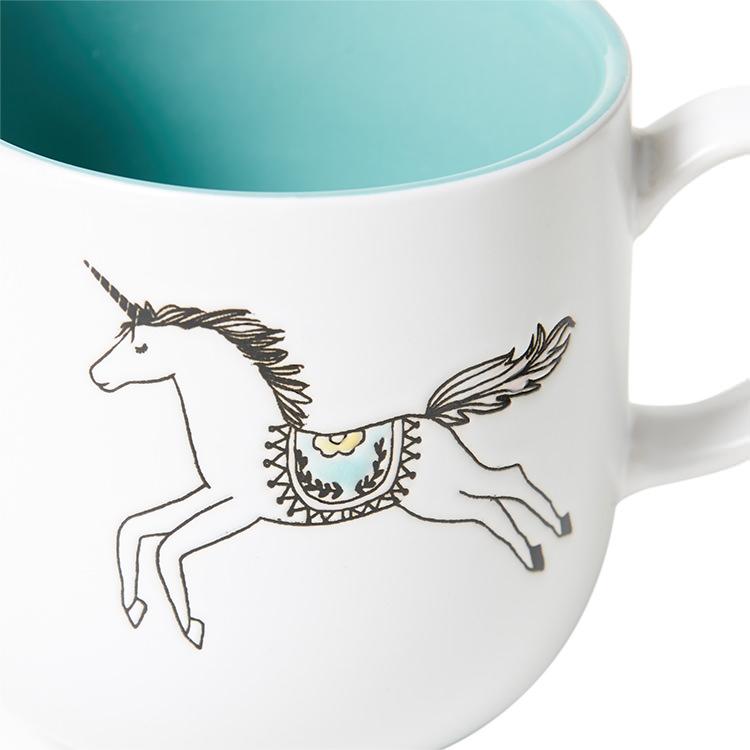 Salisbury & Co Unicorn Mug 360ml Green