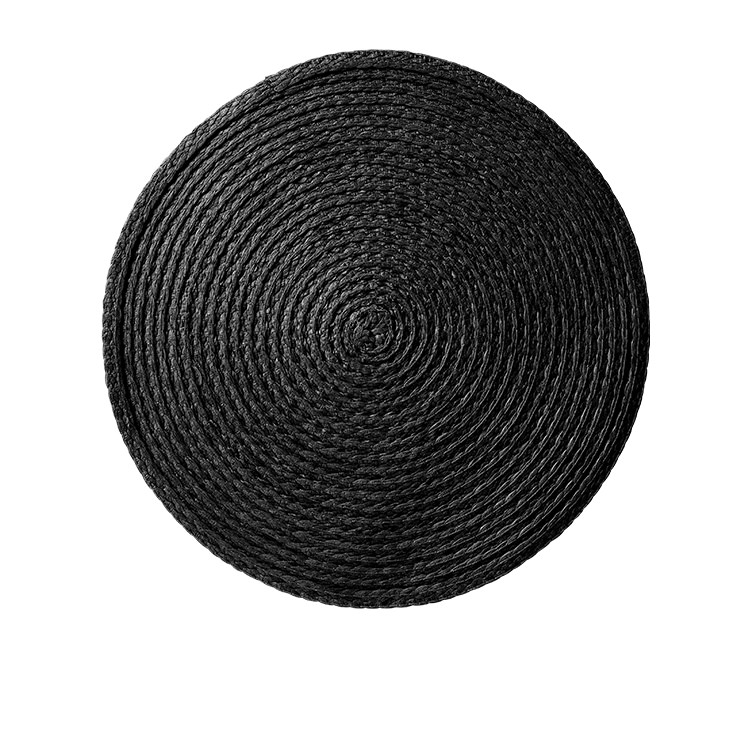 Salisbury & Co Woven Round Placemat 35cm Black