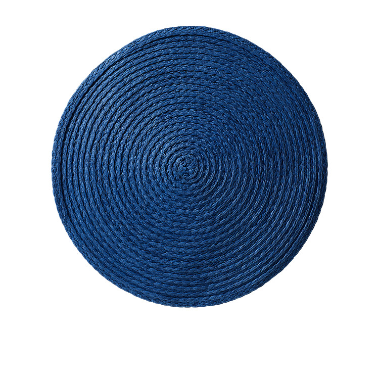 Salisbury & Co Woven Round Placemat 35cm Blue