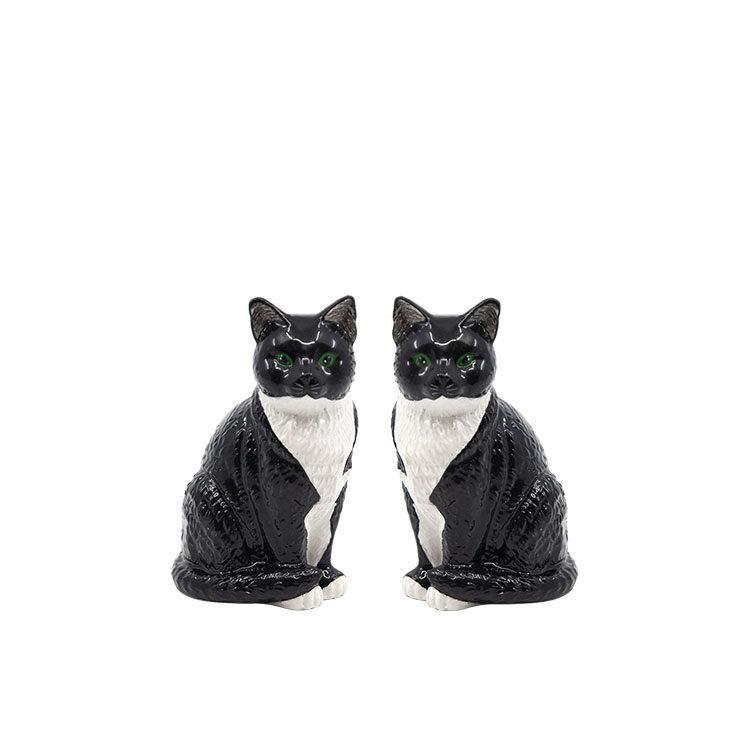 Salt & Pepper Animalia Shaker Set of 2 Black and White Cats
