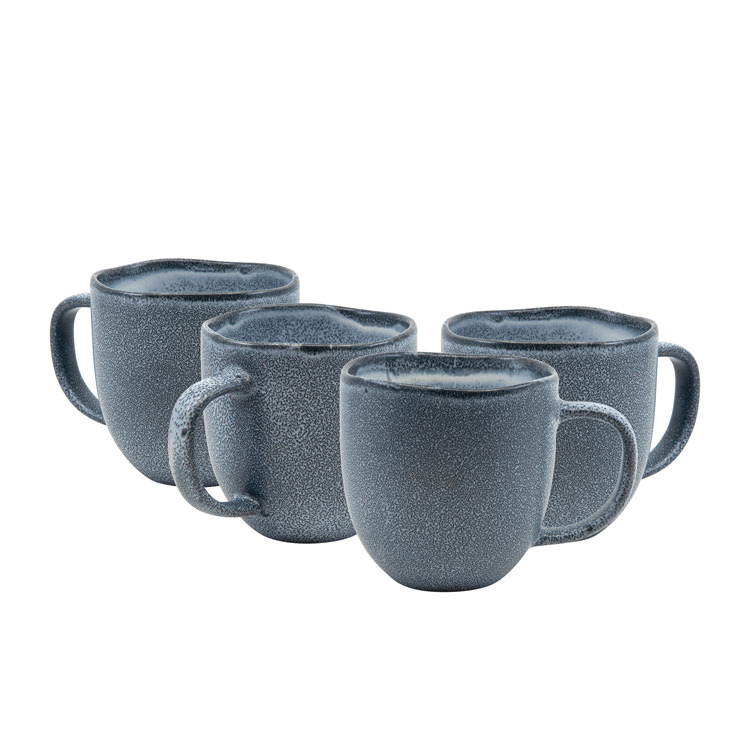 Salt & Pepper Arch 4pc Mug Set 380ml Blue