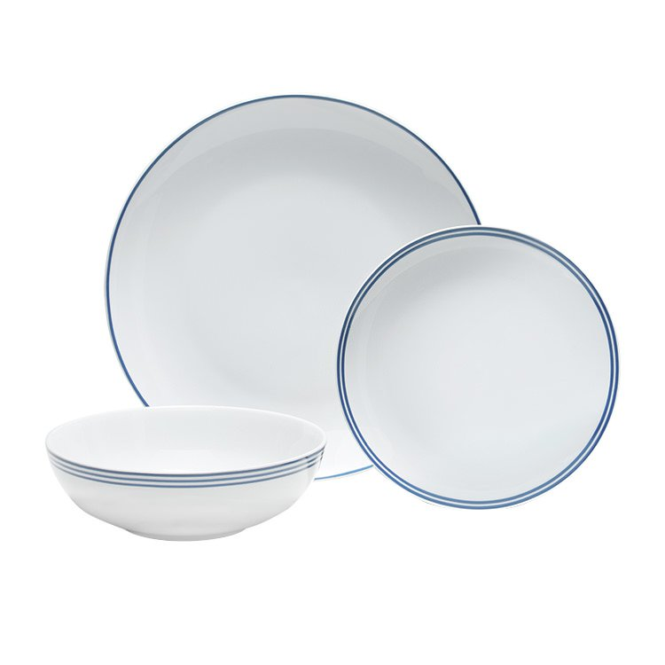 Salt & Pepper Blu Dinner Set 12pc