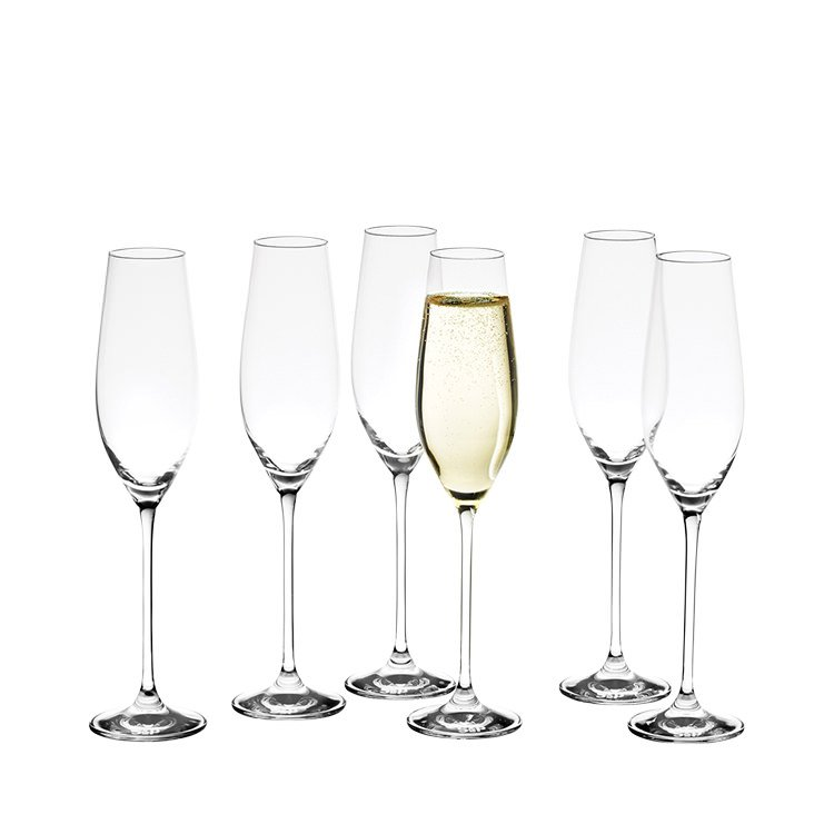Salt & Pepper Cuvee Champagne Flutes Set of 6