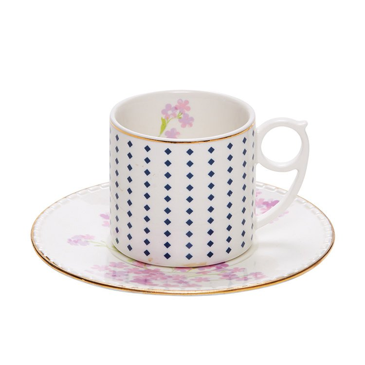 Salt & Pepper Eclectic Teacup & Saucer 220ml Floral