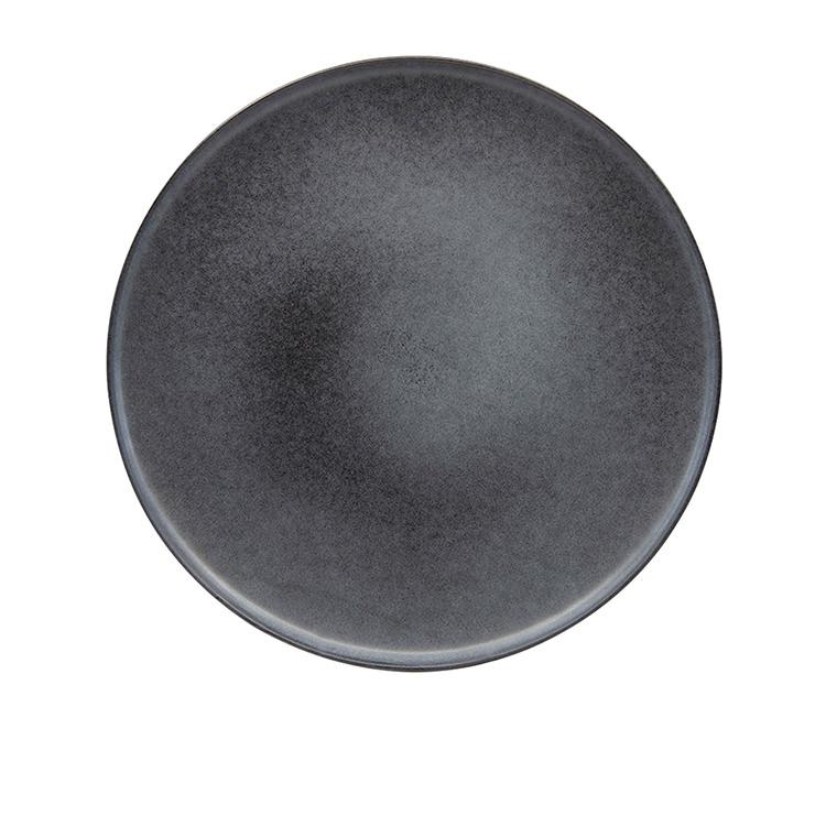 Salt & Pepper Hue Coupe Dinner Plate 27.5cm Black