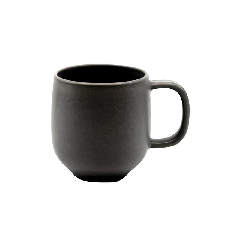 Salt & Pepper Hue Coupe Mug 380ml Black