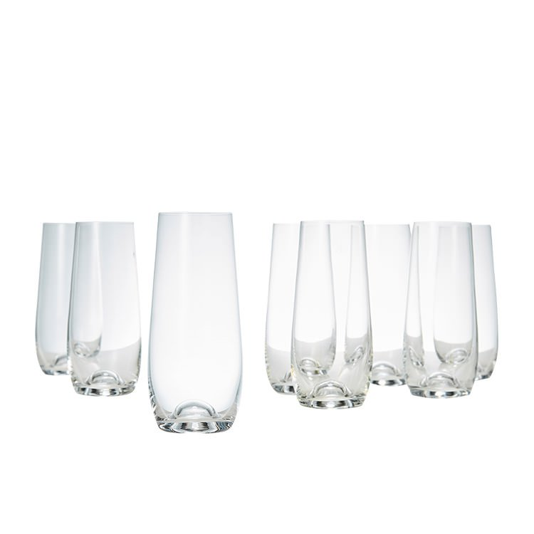 Salt & Pepper Polo Stemless Champagne Flute Set of 8