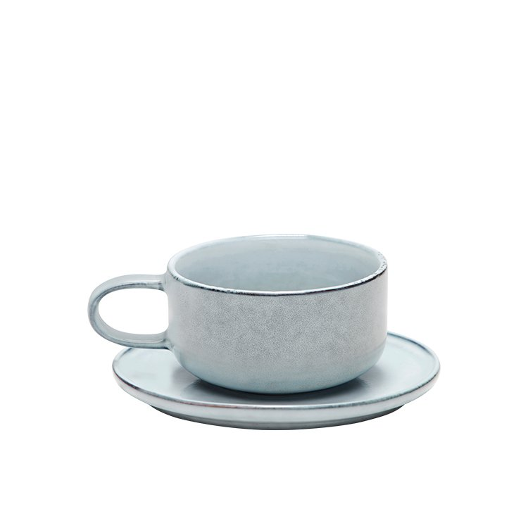 Salt & Pepper Relic Teacup & Saucer 300ml
