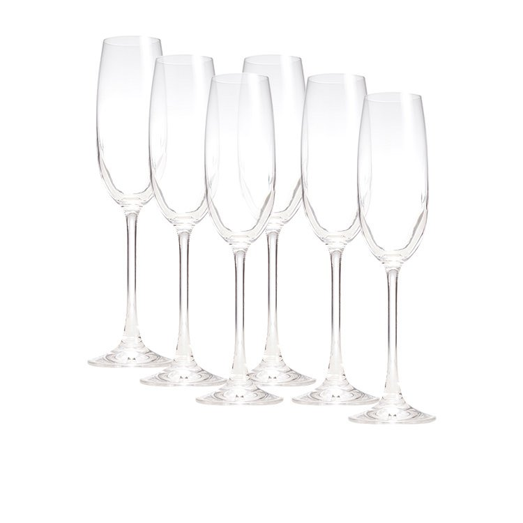 Salt & Pepper Salut 6pc Champagne Flute Set 180ml