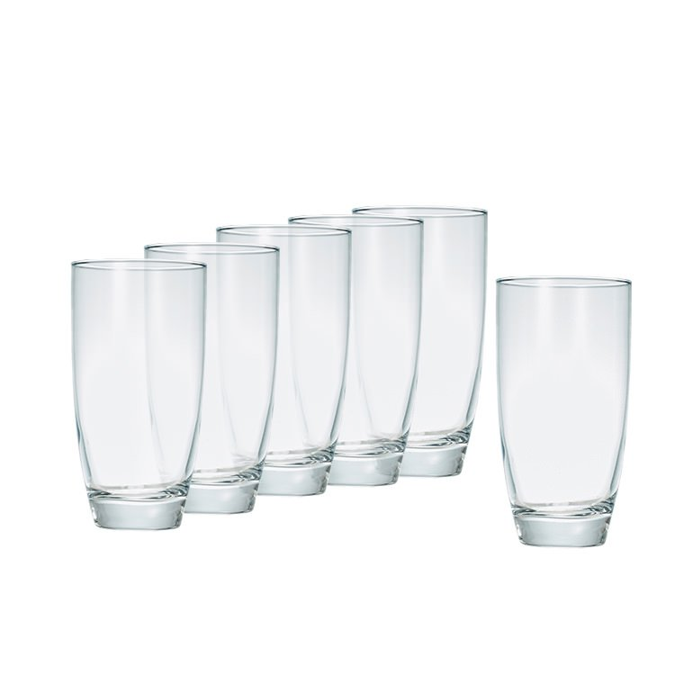 Salt & Pepper Salut 6pc Highball Glass Set 500ml