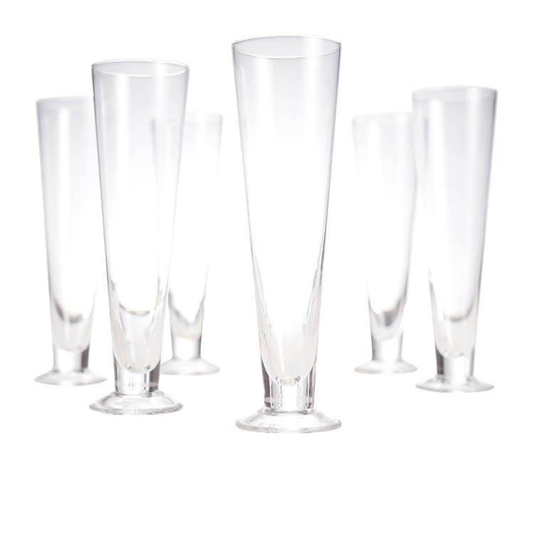 Salt & Pepper Salut 6pc Pilsner Glass Set 390ml