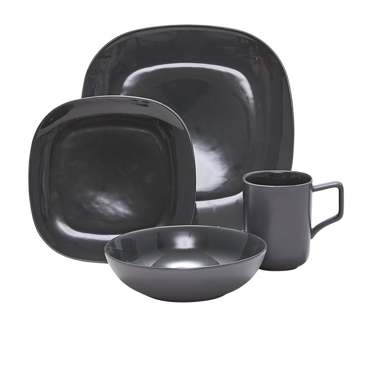 Salt & Pepper Shade Dinner Set 16pc Charcoal