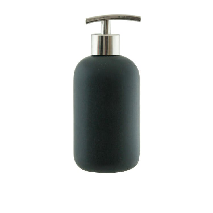 Salt & Pepper Suds Ceramic Soap Dispenser 425ml Black
