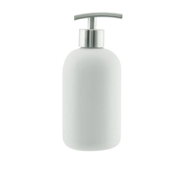 Salt & Pepper Suds Ceramic Soap Dispenser 425ml White