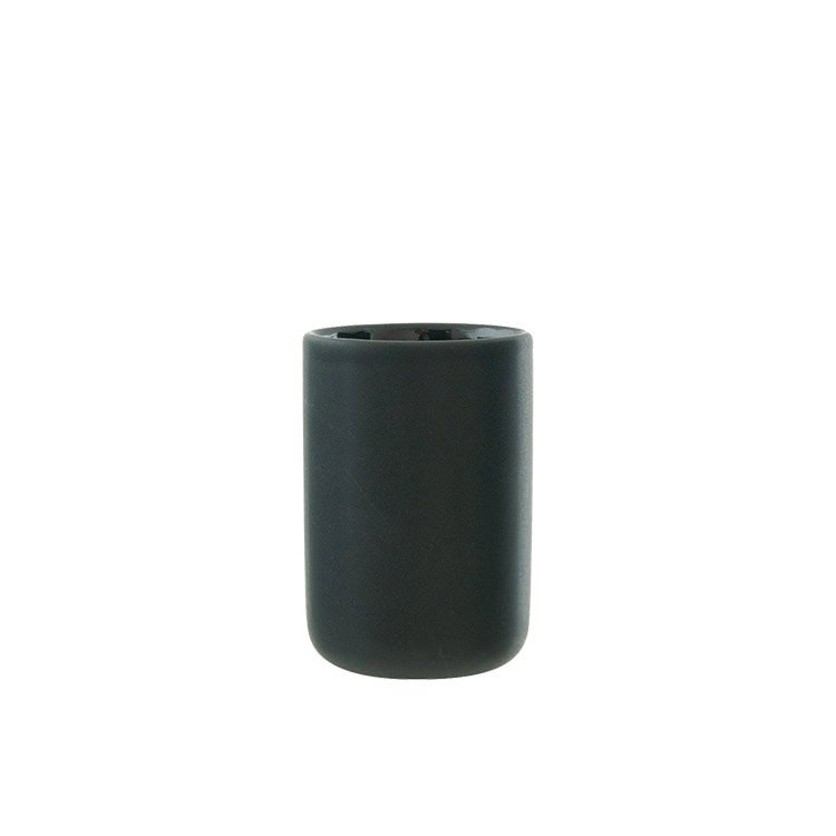 Salt & Pepper Suds Ceramic Tumbler 10cm Black