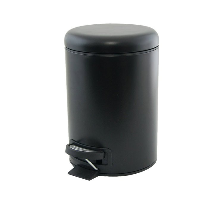 Salt & Pepper Suds Pedal Push Bin 3L Black