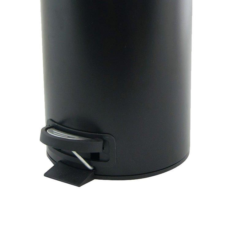 Salt & Pepper Suds Pedal Push Bin 3L Black