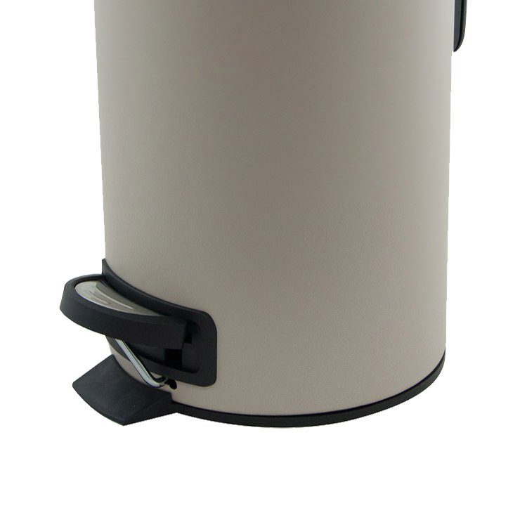 Salt & Pepper Suds Pedal Push Bin 3L Latte