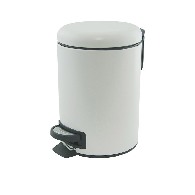 Salt & Pepper Suds Pedal Push Bin 3L White