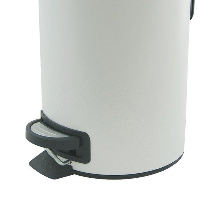Salt & Pepper Suds Pedal Push Bin 3L White