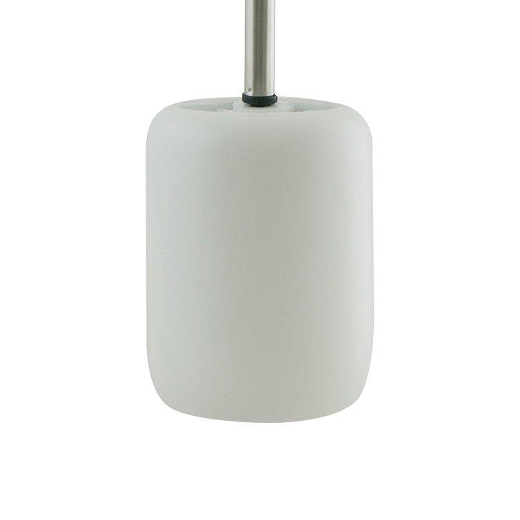 Salt & Pepper Suds Toilet Brush Ceramic Holder 39cm White
