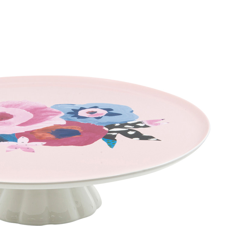 Salt & Pepper Willow Footed Cake Stand 30x8cm Rose