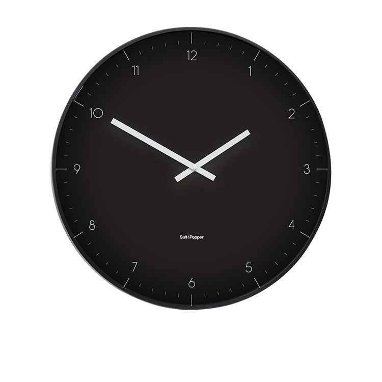 Salt & Pepper Zone Elio Clock 53.5cm Black