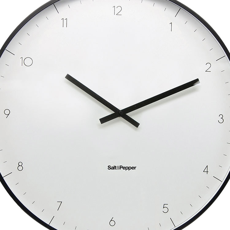 Salt & Pepper Zone Elio Clock 53.5cm White