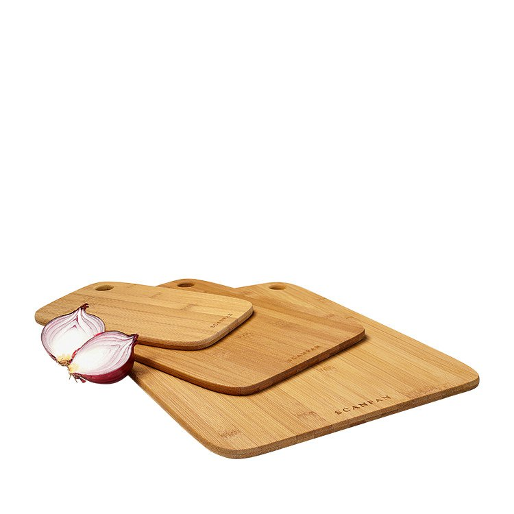 Scanpan Bamboo Cutting Board 3pc Set