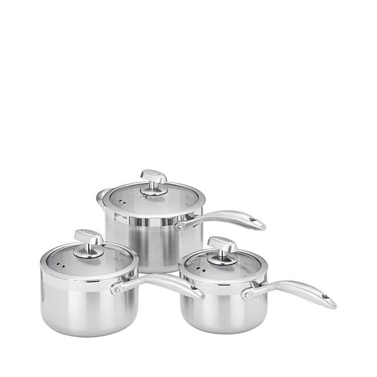 Scanpan Clad 5 3pc Saucepan Set
