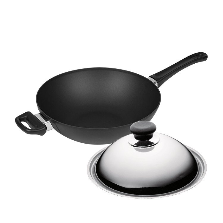 Scanpan Classic Wok 28cm with Lid - Online Only