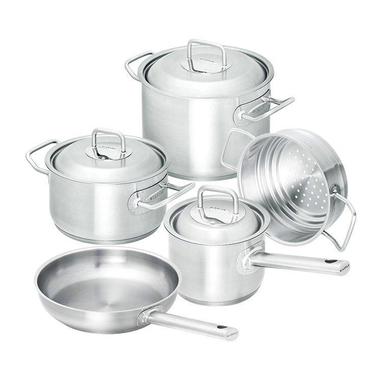 Scanpan Commercial 5pc Set w/ Frypan, Saucepan, Steamer & Casseroles